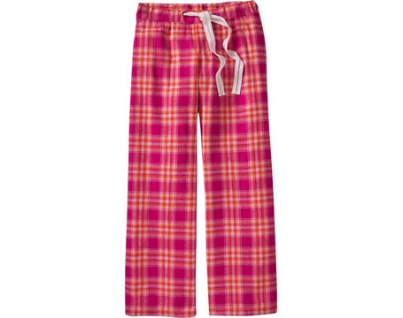 Pink Plaid Flannel Sleep Pants