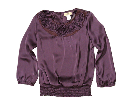 Purple Flower Mesh Top