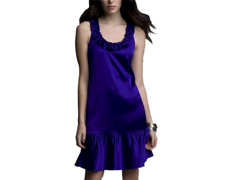 Silk Racerback Charm Dress