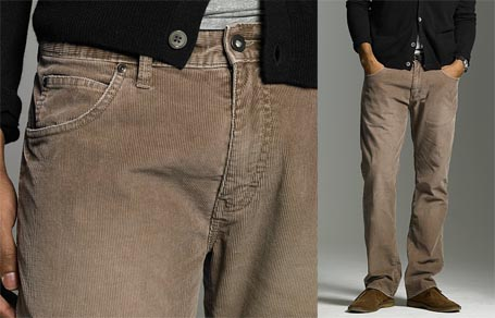 Straight Fit 5-Pocket Vintage Cord