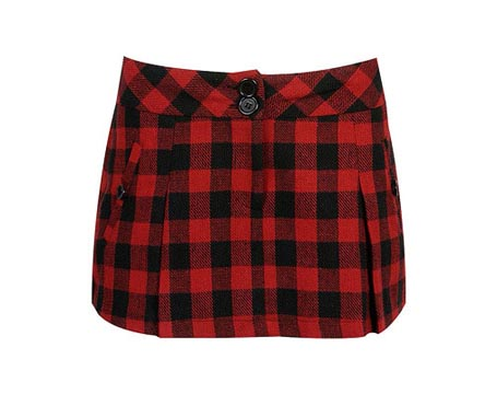 Buffalo Plaid Short Skirt