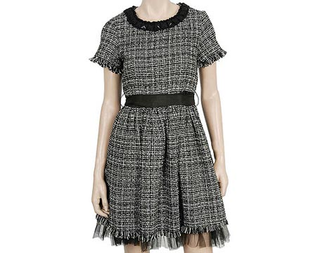 Frayed Tweed Dress
