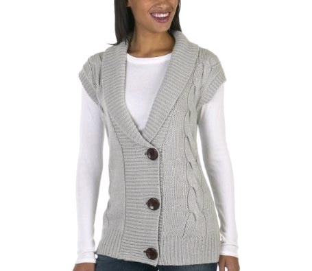 Merona Drop Shoulder Shawl Collar Vest