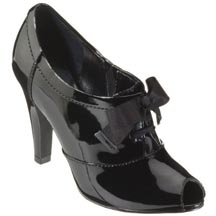 Mossimo Vergie Peep-Toe Patent Leather Booties