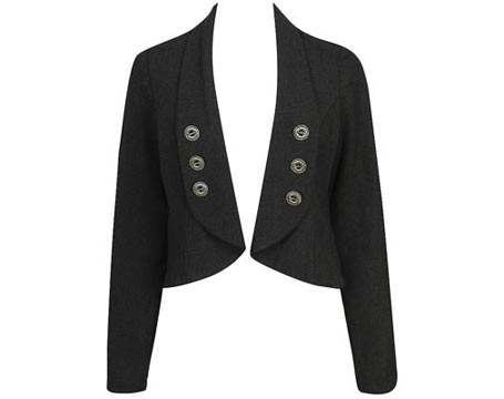 Open Front Buttoned Blazer