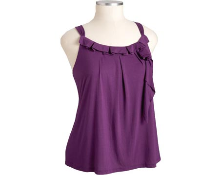 Women's Plus Pleated Rosette Top