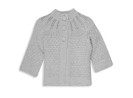 Pointelle Swing Cardigan