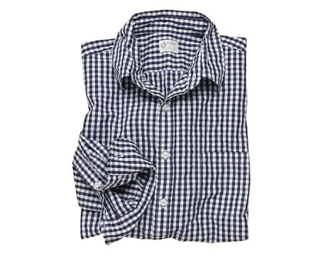 Secret Wash Point Collar Gingham Shirt