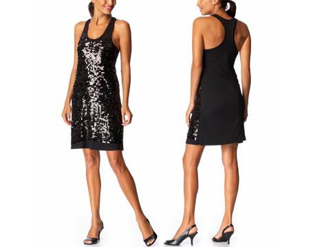 Sequined Racerback Dress