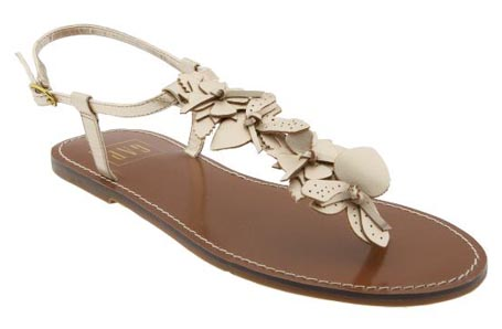 Metallic Flower Sandals