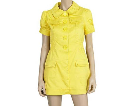 Retro Short Sleeve Coat