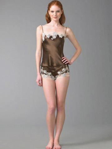 Josie Natori Chantilly Silk Camisole | $150 at Saks Fifth Avenue