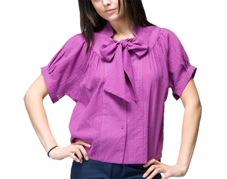 textured-gauze-bow-neck-top_071909
