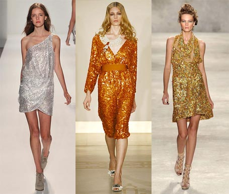 Dress Shopping on 2010 Fashion Week Trend  Sequined Disco Dresses   Omiru  Style For All