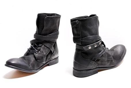 H by Hudson Black Yorke Combat Boot - Omiru: Style for All